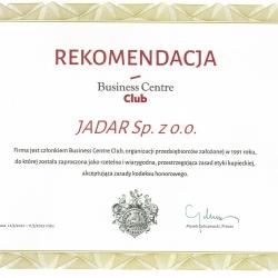 Rekomendacja Business Centre Club