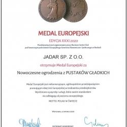 Medal Europejski za Nowoczesne ogrodzenia z PUSTAKÓW GŁADKICH